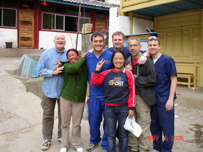 Left to right: Dr. Don Stoner, Dan Stoner, Ethan Drake, Dave Gartner, Mike Lisien and Chinese assistants
